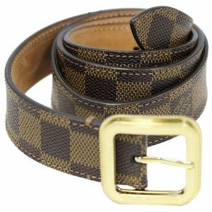 LOUIS VUITTON Tresor Damier Ebene Belt Brown
